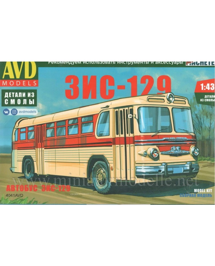 1:43 ZIS 129 Bus, kit