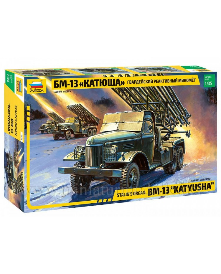 1:35 ZIS 151 with BM 13 Katyusha Stalin organ multiple rocket launcher, kit
