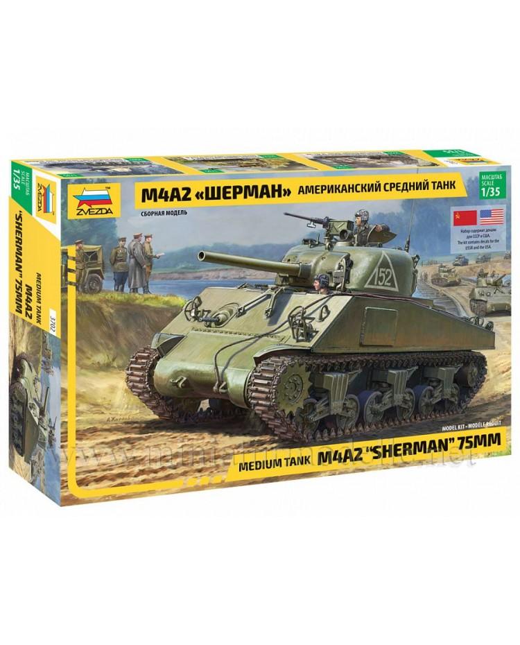 1:35 Sherman M4A2 medium tank, kit