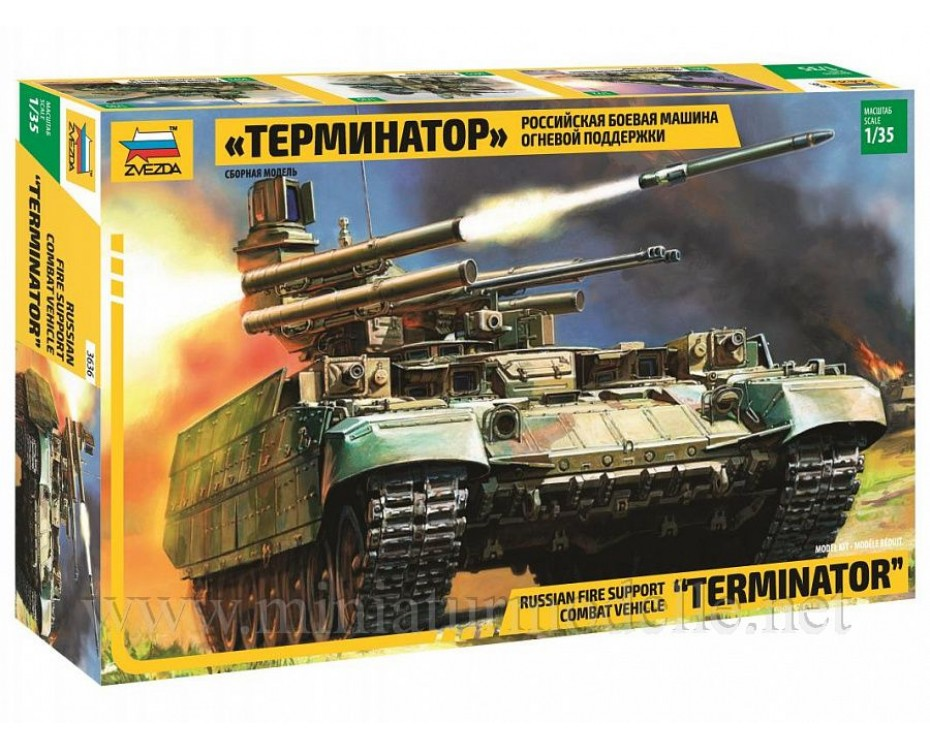 1:35 Terminator BMPT Tank Support Fighting Vehicle, kit, 3636, Zvezda by www.miniaturmodelle.net