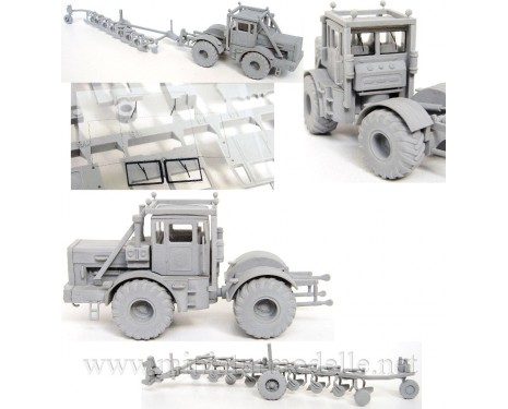 H0 1:87 Kirovets Tractor K 700 A with plow Fortschritt B550, small batches model kit