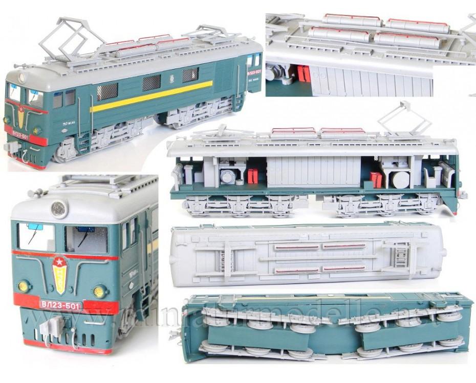 1:87 H0 VL23 electric locomotive dummy kit, SZD, 3-4 era, small batches model