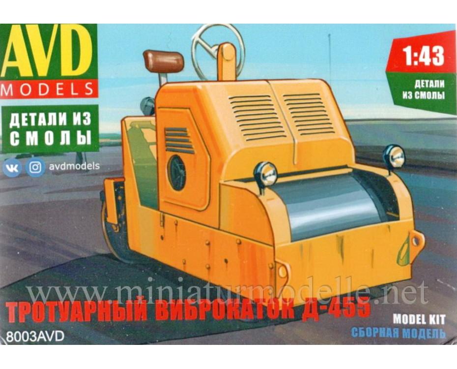 1:43 D-455 Road roller, small batches kit, 8003AVD, AVD Models by www.miniaturmodelle.net
