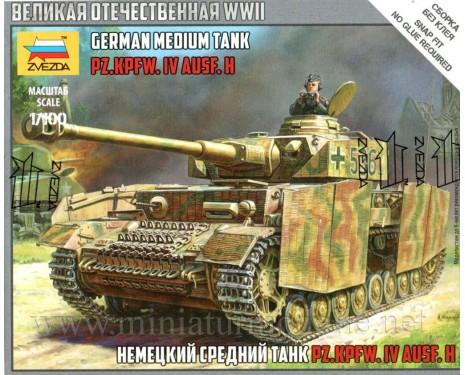 1:100 Pz.Kpfw. IV Ausf.H german meduim tank, kit