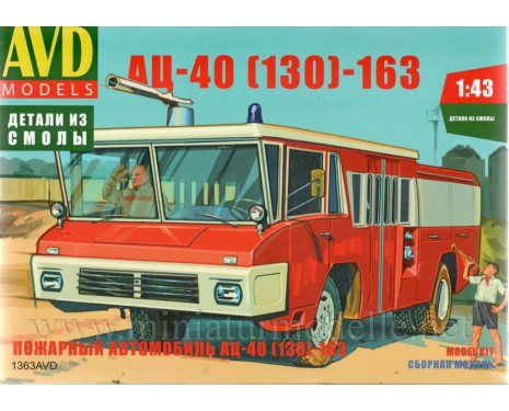 1:43 ZIL 130 fire engine AC 40 163, small batches kit