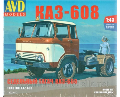1:43 KAZ 608 tractor unit, kit