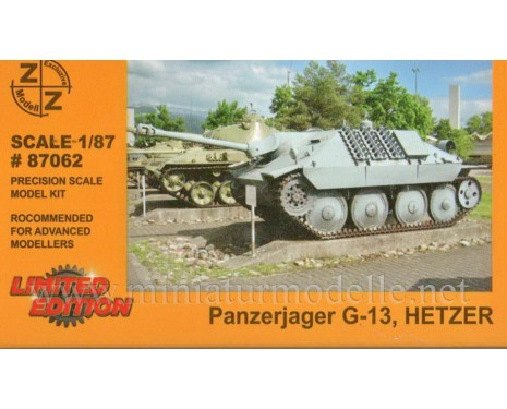 H0 1:87 Hetzer tank destroyer G13, military, small batches model
