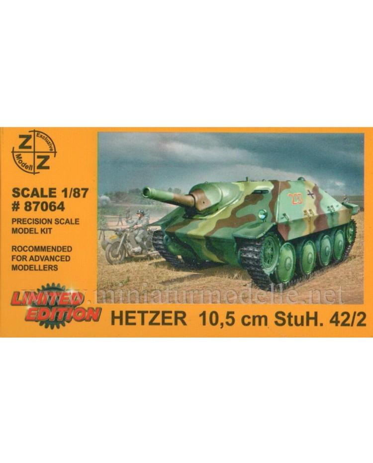 H0 1:87 Hetzer Panzerjaeger 38(t) mit 105mm StuH 42/2 L/28, Militär, Kleinserien