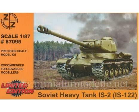 H0 1:87 IS-2 Soviet heavy tank (IS-122), military, small batches model