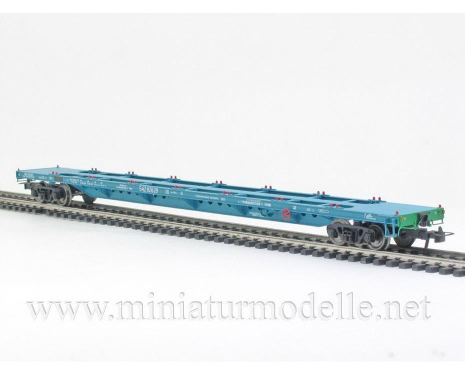1:87 H0 Containerwagen mod. 13-1281-01, blau, RZD, 5. Epoche, Kleinserie