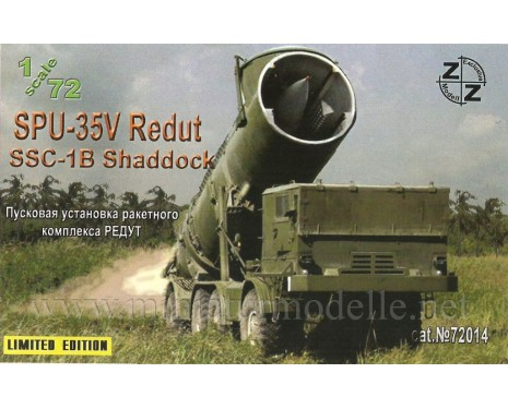 1:72 SPU-35V Redut SSC-1B Shaddock laouncher, military, small batches model