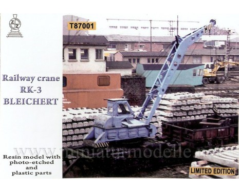 1:87 H0 Railway crane RK 3 Bleichert, small batches model