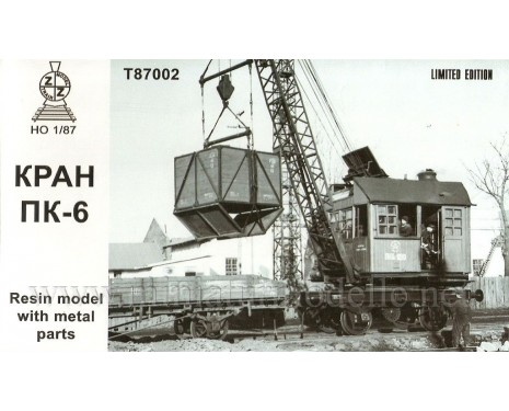 1:87 H0 Railway crane PK 6, small batches model