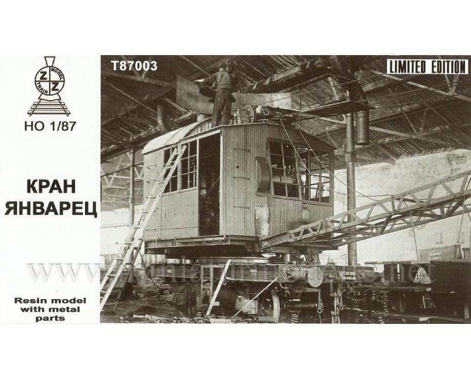 1:87 H0 Railway crane Yanvarec, small batches model