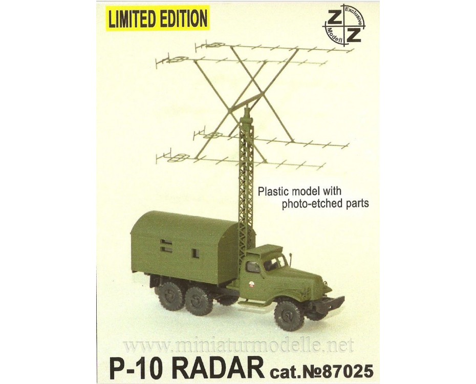 H0 1:87 ZIL 157 with radar P-10, military, small batches model