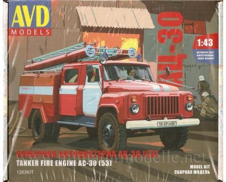 1:43 GAZ 53 Tankloeschfahrzeuge AC-30 (53) FW Feuerwehr, Bausatze