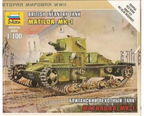 1:100 Matilda Mk I Britischer Panzer
