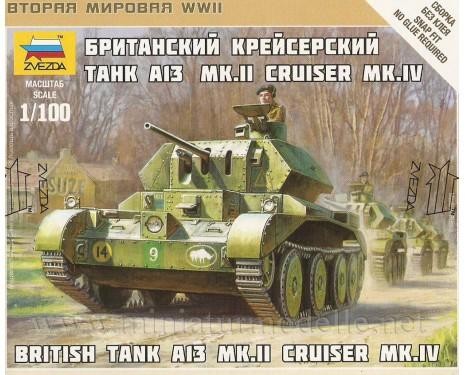 1:100 A13 Mk II Cruiser MK.IV British tank