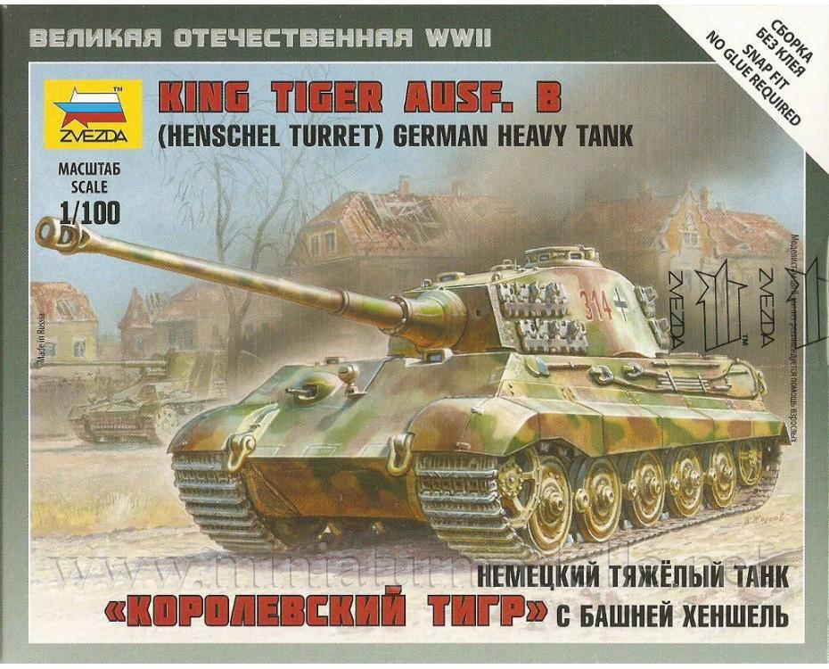 1:100 King Tiger Ausf.B Henschel Turm Wehmacht Panzer
