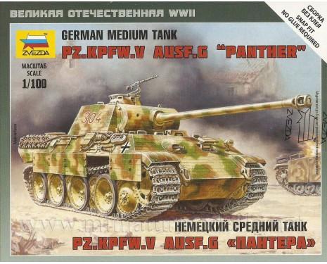 1:100 Pz.Kpfw. V Ausf.G Panther Wehmacht Panzerkampfwagen
