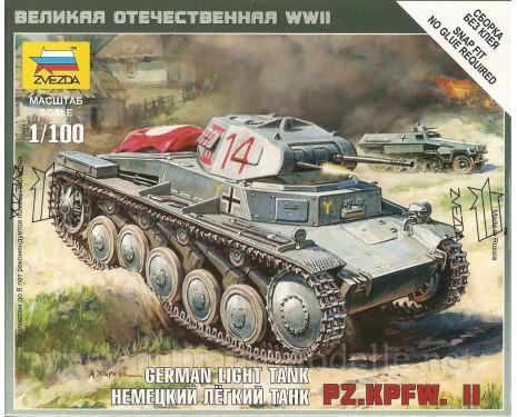 1:100 Pz.Kpfw. II Wehmacht Panzerkampfwagen