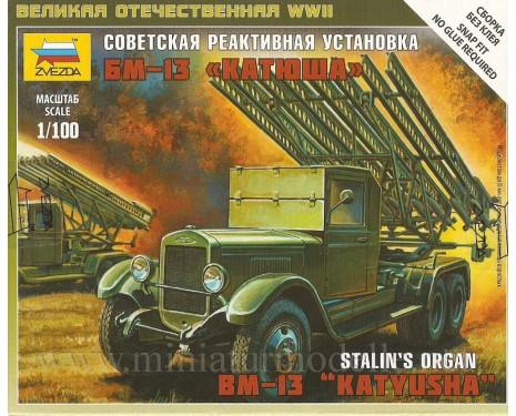 1:100 BM 13 Katyusha soviet rocket launcher Stalin's organ