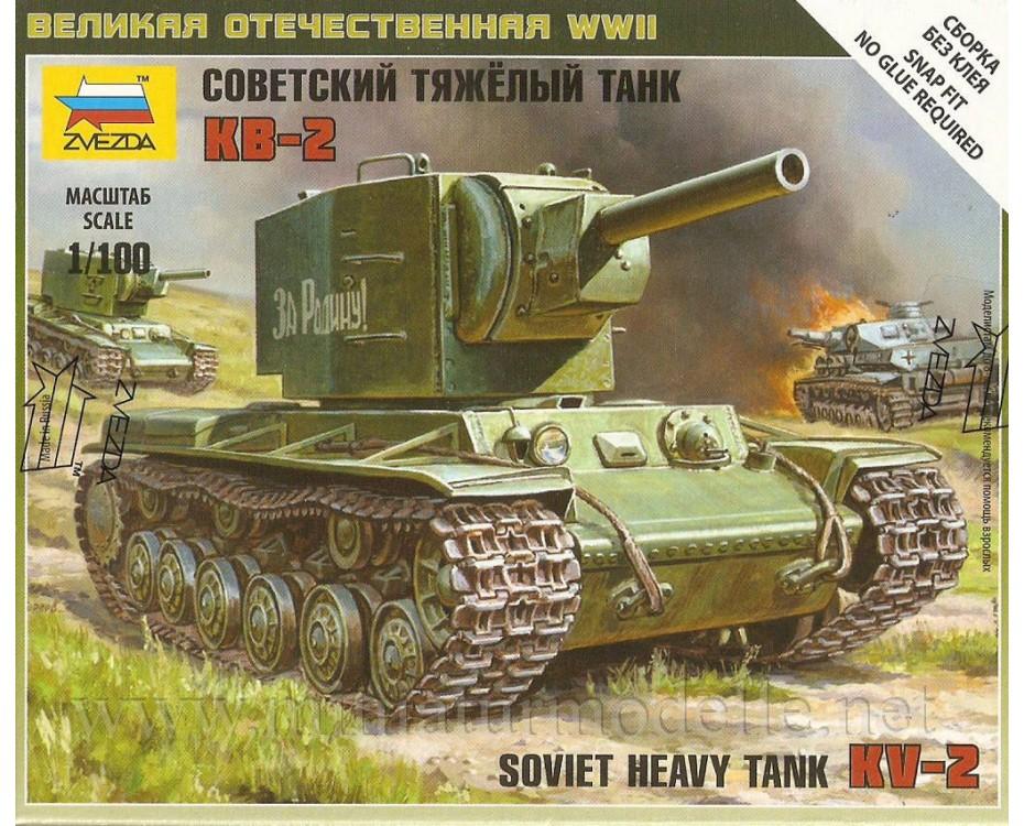 1:100 KV 2 sowjetischer schwerer Panzer