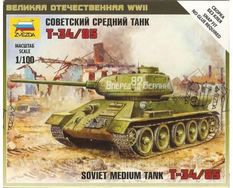 1:100 T 34/85 sowjetischer mittlerer Panzer