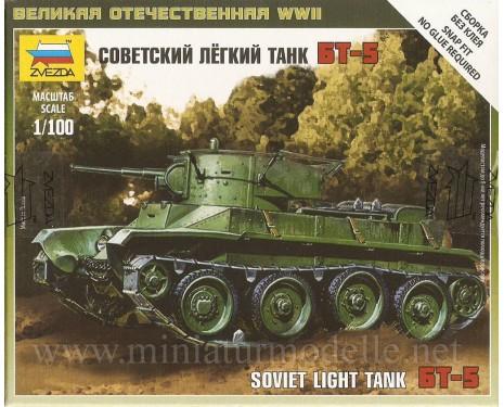 1:100 BT 5 sowjetischer leichter Panzer