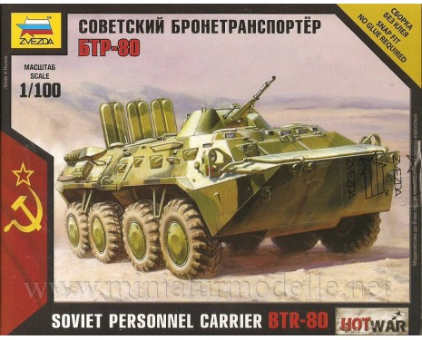 1:100 BTR 80 soviet personnel carrier