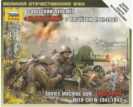 1:72 Sowjetisches Maschinengewehr Maxim mit Soldaten 1941-43
