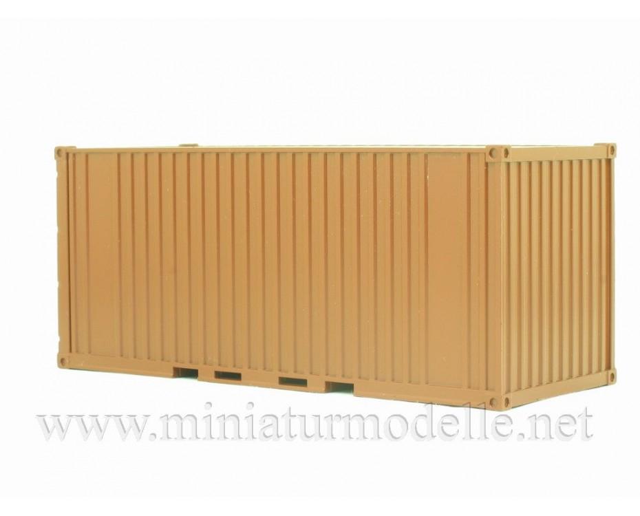 1:43 Container 20 ft., brown, 100106, Start Scale Models - SSM by www.miniaturmodelle.net