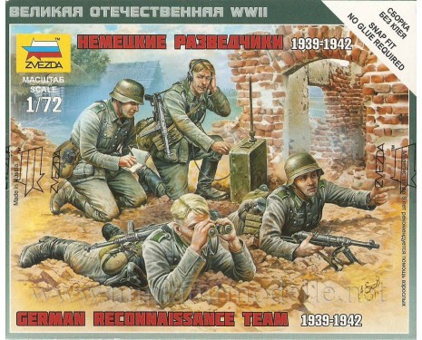 1:72 German reconnaissance team 1939-42