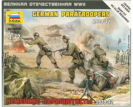 1:72 German paratroopers 1939-42