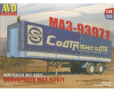 1:43 MAZ 93971 semi canvas trailer, Sovtransavto