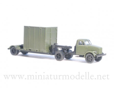 1:87 H0 GAZ 51P tractor with 5Т. container trailer military