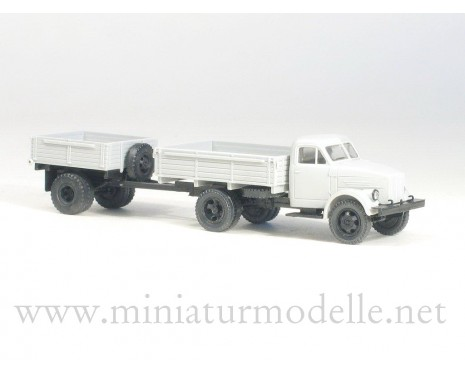 1:87 H0 GAZ 51 open side with open side trailer 1AP civil