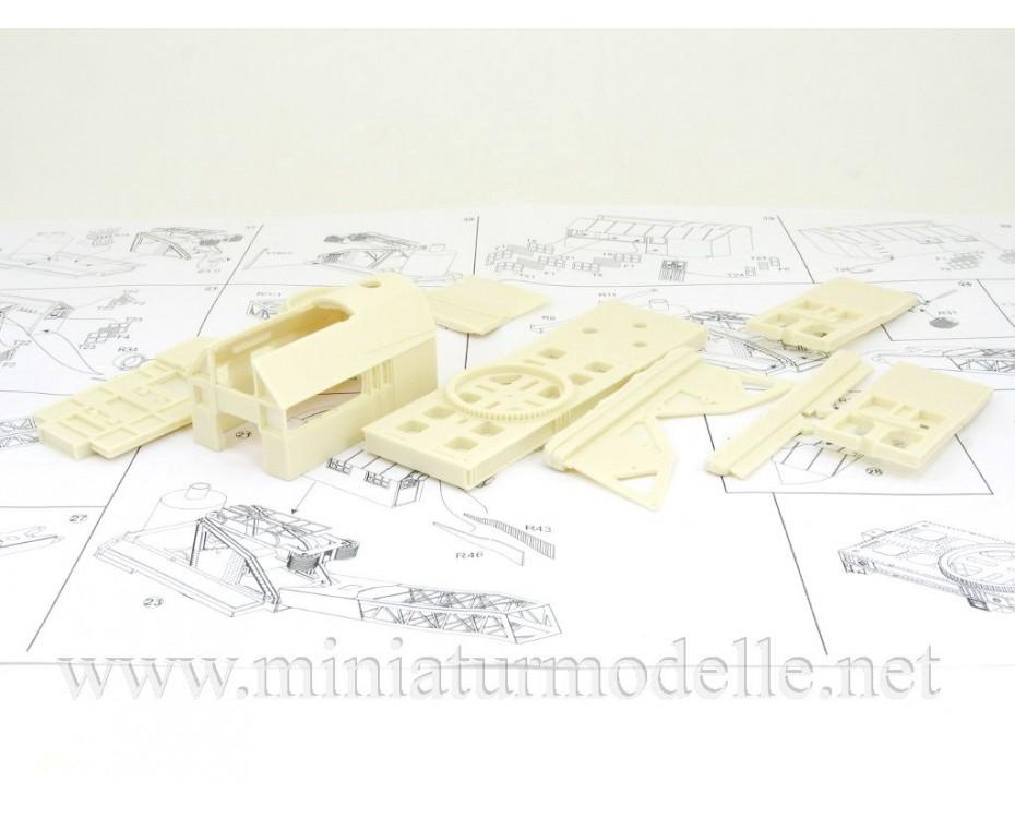 1:87 H0 Railway crane Yanvarets 3 45t., small batches model kit