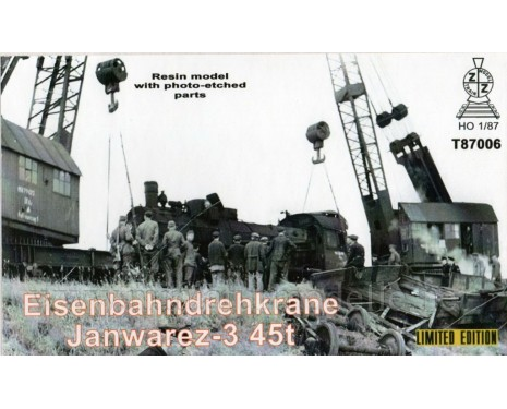 1:87 H0 Railway crane Yanvarets 3 45t., small batches model kit