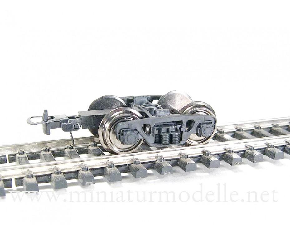 1:87 H0 2 St. Drehgestelle CNII-H3 der Wagen mit 18,2 mm Kupplungbalken und Radsätze.