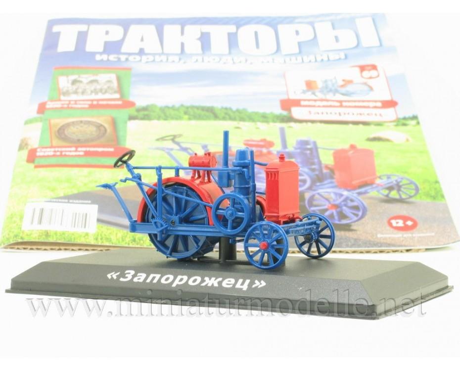 1:43 Saporoshez Traktor mit Zeitschrift #69