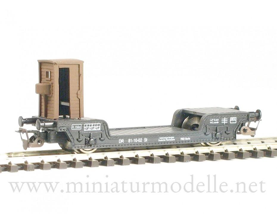 1:120 TT 3310 Tiefladewagen St der DR, schwarz, 3. Epoche