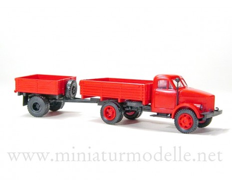 1:87 H0 GAZ 51 open side with open side trailer 1AP fire