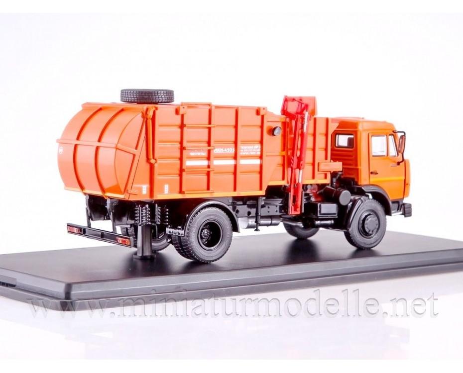 1:43 KAMAZ 43253 Garbage truck MKM 4503 orange