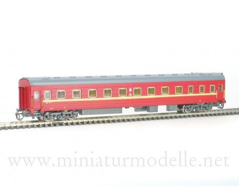 1:120 TT 2020 Long-distance sleeping car type Ammendorf of the SZD maroon livery, era 4