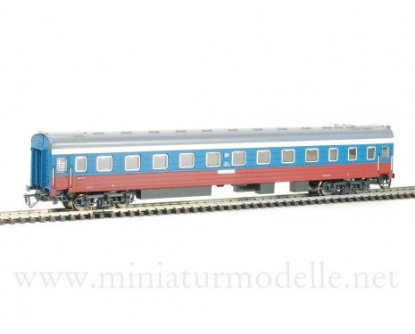 1:120 TT 2040 Long-distance sleeping car type Ammendorf of the white blue red Transsib Rossija livery RZD, era 5