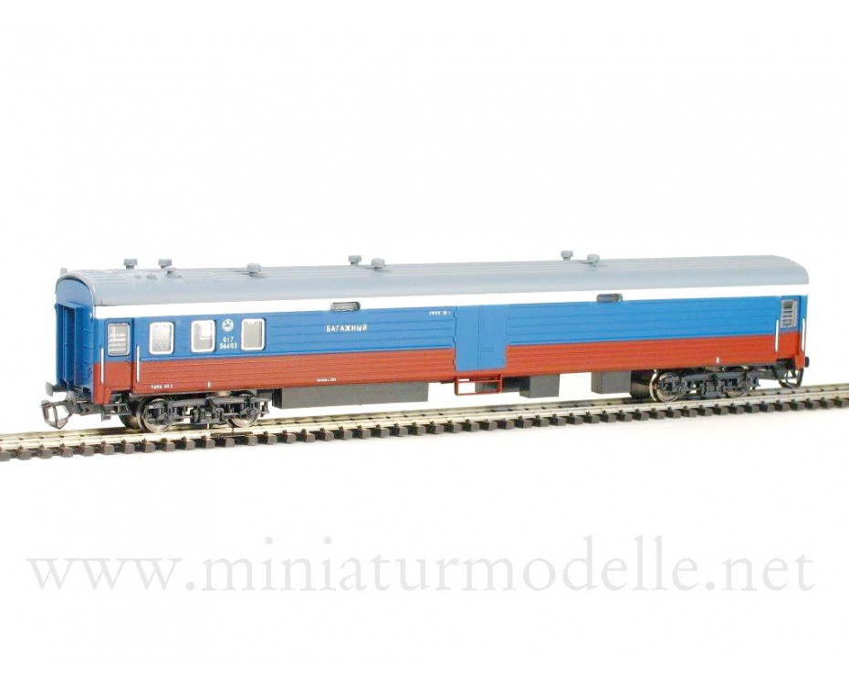 1:120 TT 2140 Baggage van of the RZD white blue red Transsib Rossija livery era 5 suitable # 2040 RZD
