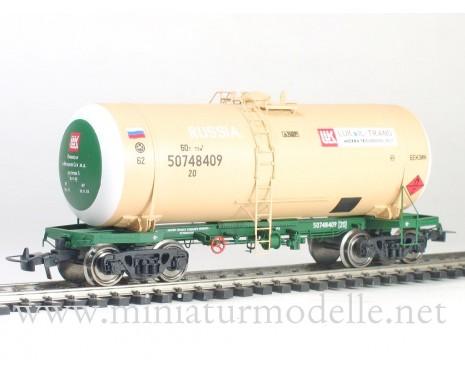 1:87 H0 Kesselwagen mod. 15-1566 Lukoil Trans zum Transport von Benzin, RZD 5. Epoche