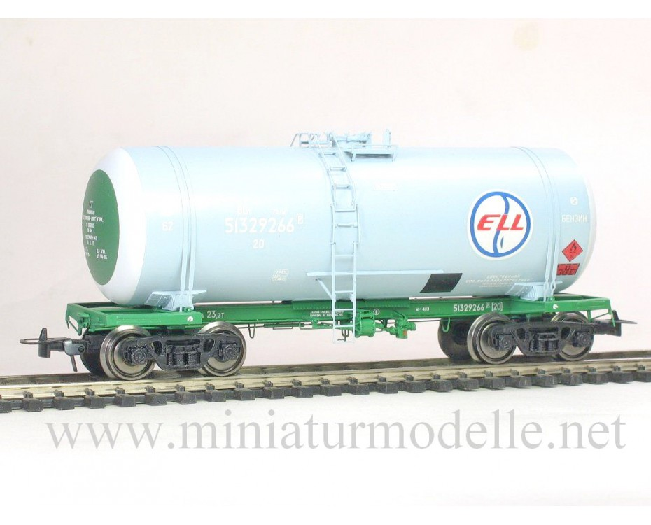 1:87 H0 Tank wagon mod. 15-1443 of the ELL livery, RZD era 5, small batches model
