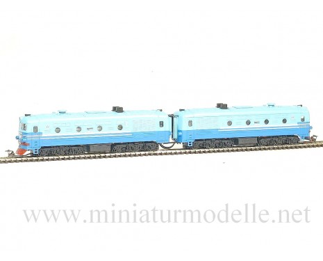 1:120 TT 1214 Twin-unit diesel locomotive class 2TE10 of the SZD livery, Ep. 3